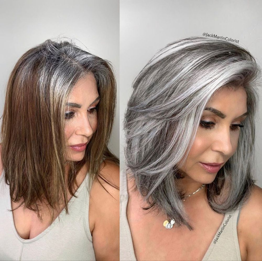 Gray Hair Wigs For African American Women Straight Wigs Silver Grey Hair Colour Best Wigs To Buy Online Long Ponytail Wig Megalook Hair