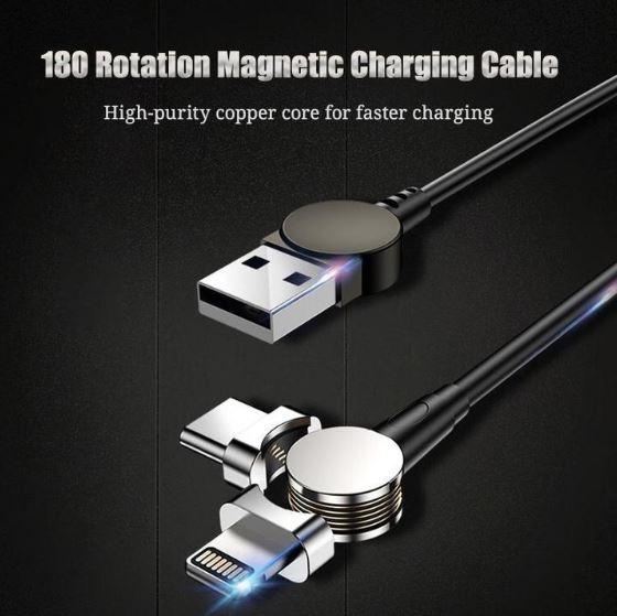 180° Portable Magnetic Cable