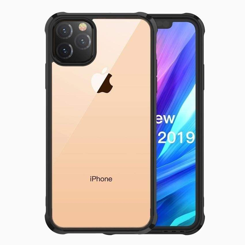 Transparent Acrylic Phone Case TPU Soft Silicone Edge Cover Case for iPhone 11 Pro Max XR X Xs Max 8 7 PLUS