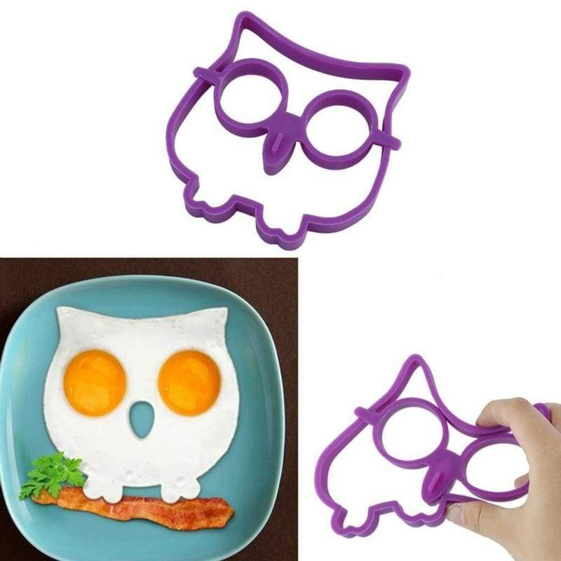 Breakfast Silicone Fried Egg Mold Pancake Egg Ring Shaper Funny Cooking Tool
