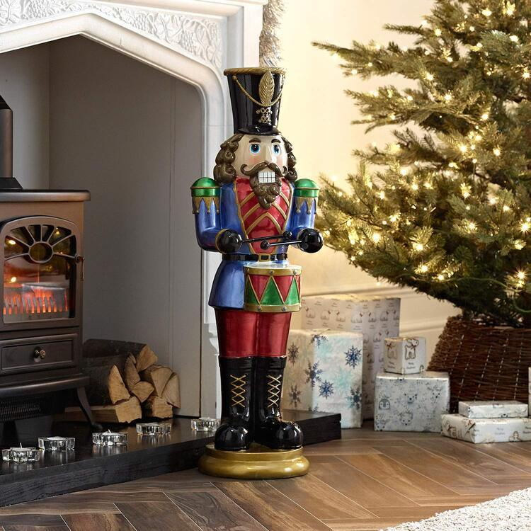 🎅Christmas Sale🎅 Animated Musical Nutcracker with drum🌲FREE SHIPPING