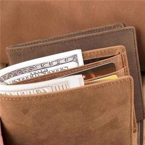 Mom To Son - Never Lose- Genuine Leather Wallet
