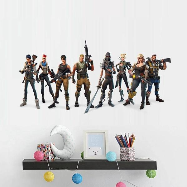60X30cm Fashion 3D Game Wall Stickers  For Living Room Kids Room PVC Wallpaper Decals Bedroom Boys Decorate