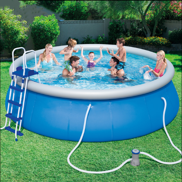 Hot Summer 12 ft x 36 in Easy Set Pool Set with Air Pump 2020