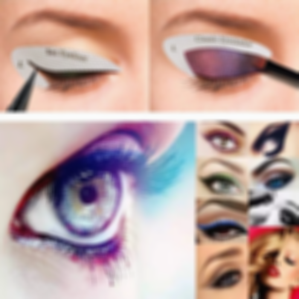 SKRTEN 16 Pairs Easy Eyeliner Eye Shadow Non-Woven Mold Stickers
