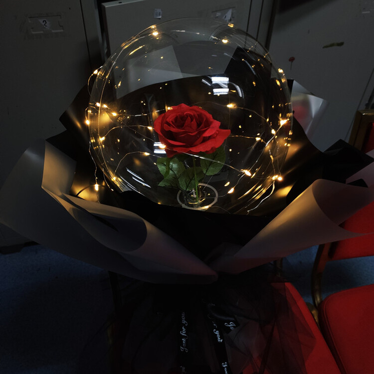 💕V-DAY LIMITED SALE💕LED Luminous Balloon Rose Bouquet&Best V-Day Gift And Decor