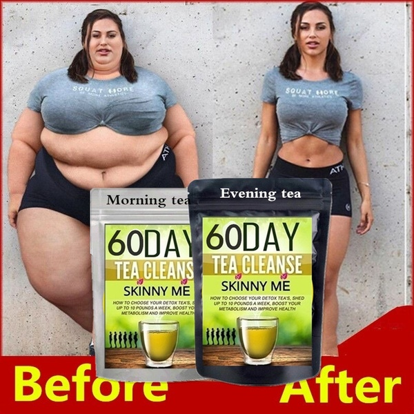 New High Quality 10day,20 Day,30day,60day of Fat-reducing Detoxification Tea, Mild Detoxification In The Morning, Fat-reducing At Night Detoxification, Beauty and Weight Loss Tea Weight Loss Products