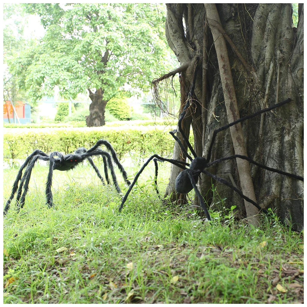 Halloween Spider Decorations Giant  Scary Hairy Realistic Spiders  For Outdoor Indoor  Decor