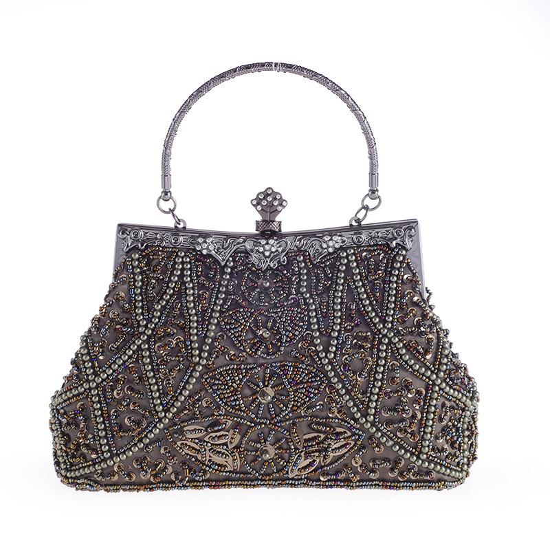2019 New product crystal beaded women tote party bag luxury elegant wedding clutch evening bags Clutch-1.2
