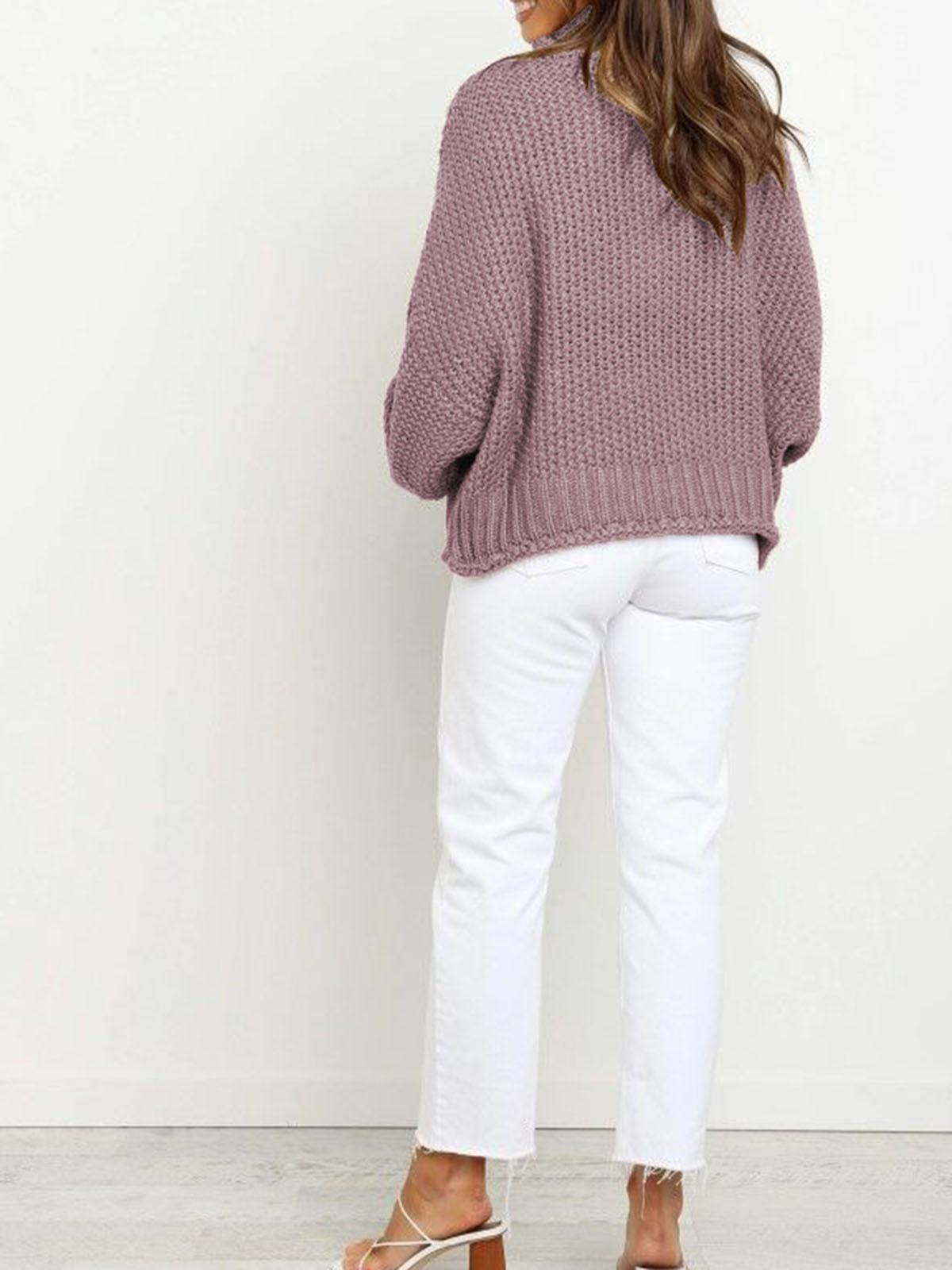 Pullover High Neck Loose Sweater