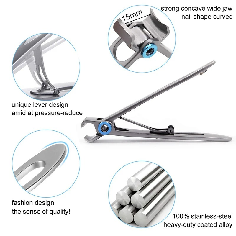 (SUMMER HOT SALE)  Nail Clippers For Thick Nails-BUY 2 FREE SHIPPING