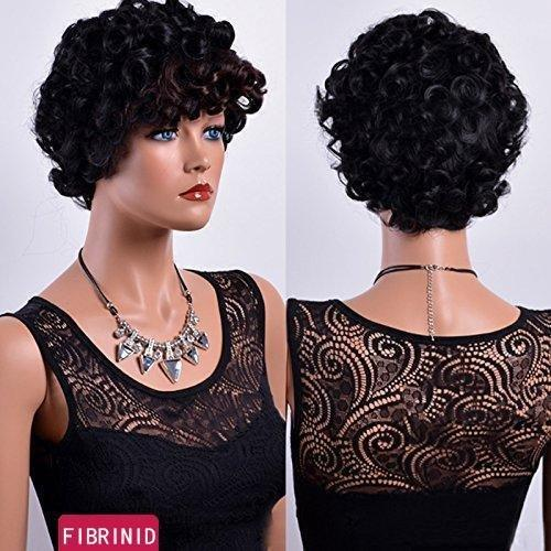 Luna N21 Afro Layered Fluffy Short Kinky Wig with Bangs