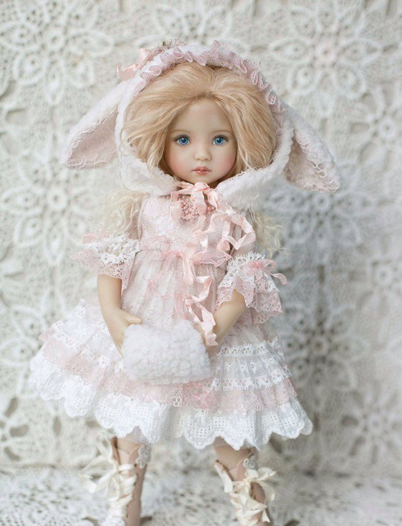 👧👧Little Darling Dianna Effner Doll with dress💝Lolita Style#3