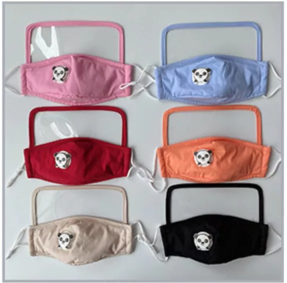 Cotton Mask with Eyes Shield For Kids