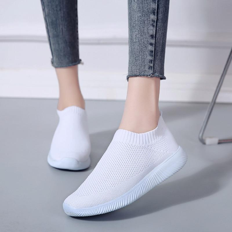 Women Breathable Mesh Platform Soft Casual  Sneakers