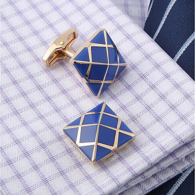 Cufflinks Fashion Brooch Jewelry Blue For Daily Office & Career
