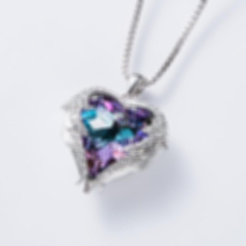 Heart of The Sea Plated Platinum Necklace