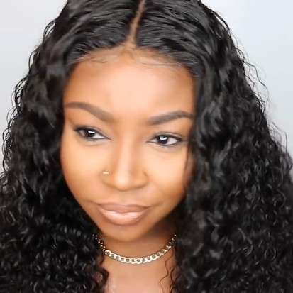 Special OFF   Natural Long Curly Water Wave Wig