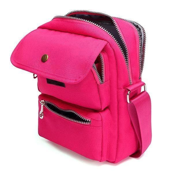 Multi-pocket Nylon Shoulder Bag