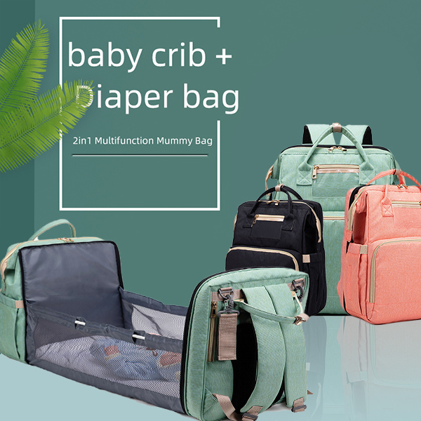 【Free delivery】Moses ™2020🔥2 -In-1 Multifunctional Travel Mommy Bag & Crib