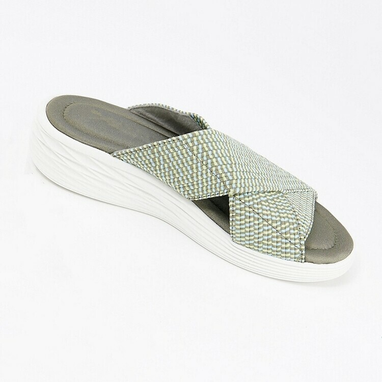 Product up-gradation-Stretch Cross Orthotic Slide Sandals