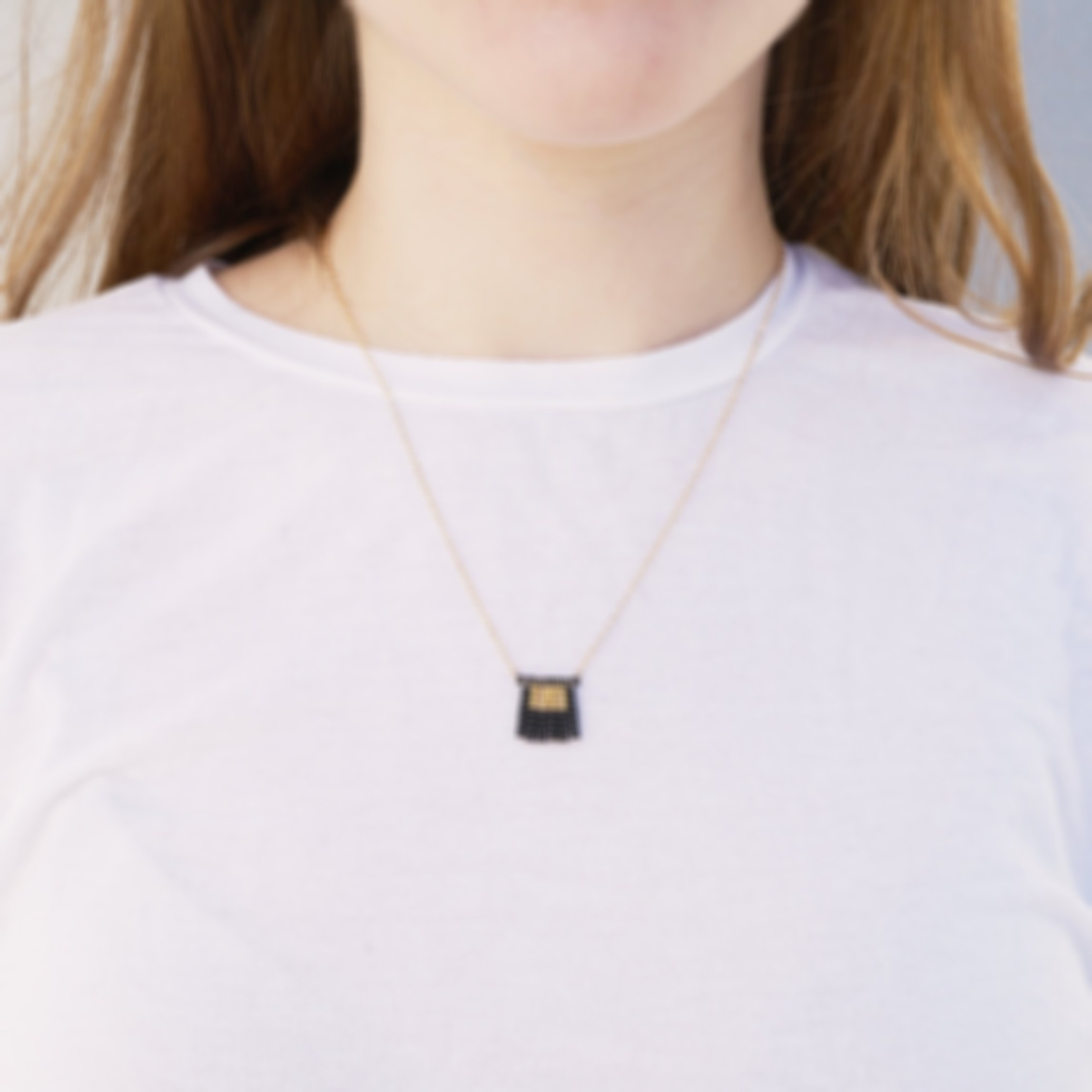 Nzuri Tassel Block Necklace