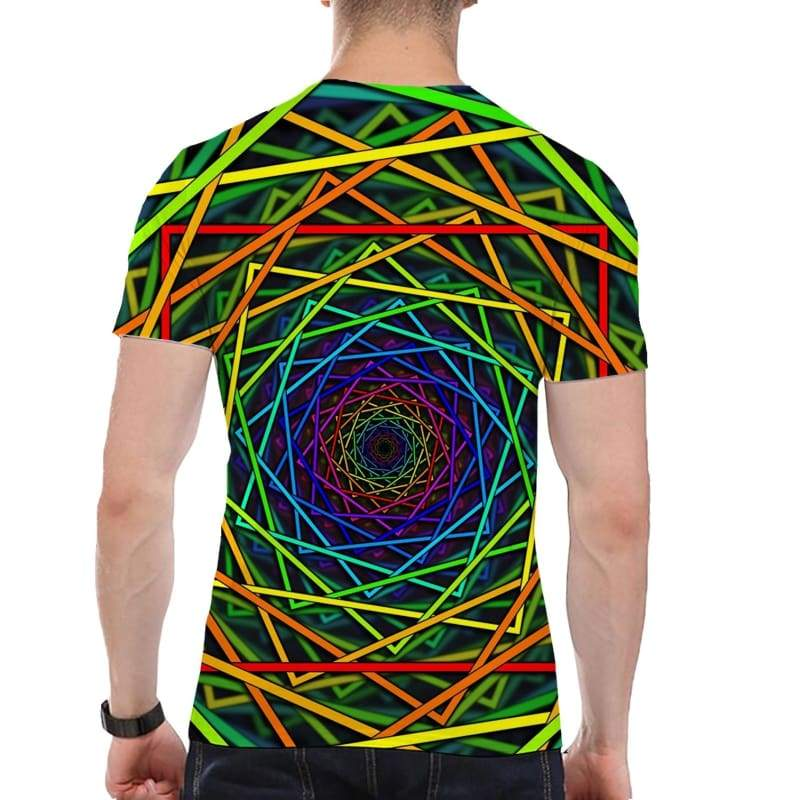 New Fashion The O-neck Printing Abstract T-shirt Unisex Men Hypnotic Funny 3d T Shirt for Men