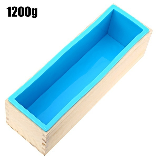 Handmade Soap Silicone Rectangle Mould Pastry Bread Bakeware 900/1200g