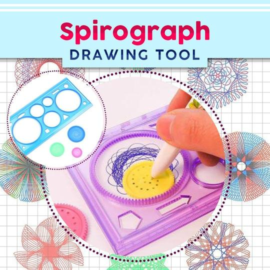 Drawing Art Drafting Stencil Spirograph Ruler Geometric Spiral Tool Stationery