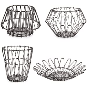 Metal Fruit Vegetable Storage Bowls