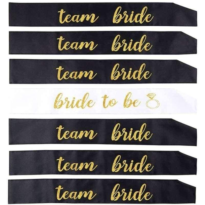 7/12Pcs/Set Maid Of Dishonor Bride to Be Sash Wedding Bridal Bachelorette Party Short Queen Hot Mama Sashes