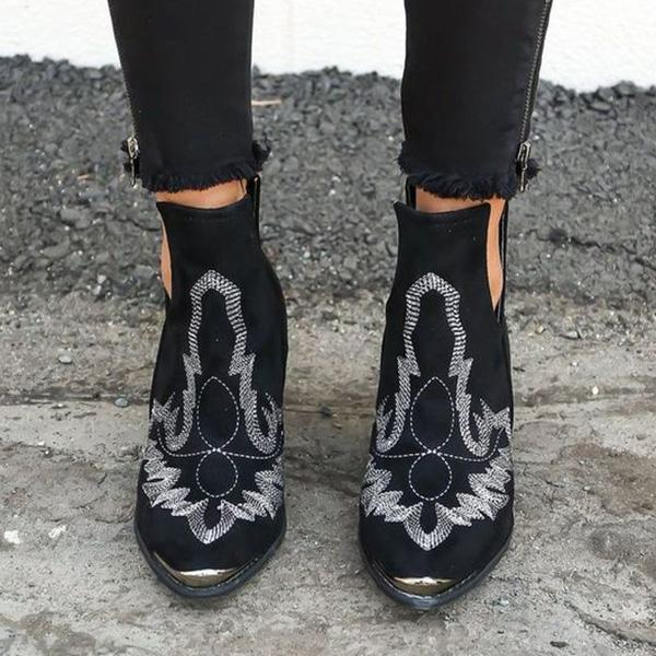 Faddishshoes Women Dream Embroidery Boots