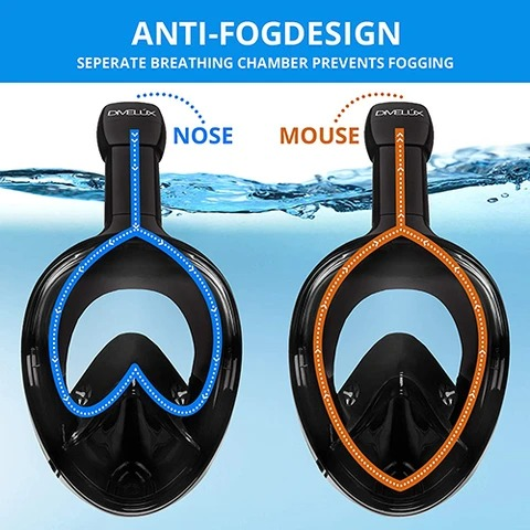 Anti-Fog Full Face Snorkeling And Diving Mask