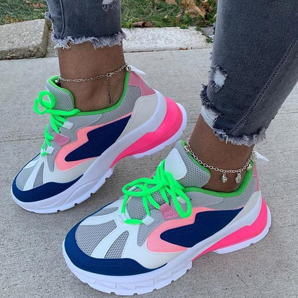 Lemmikshoes Low-Cut Upper Lace-Up Round Toe Casual Sneakers