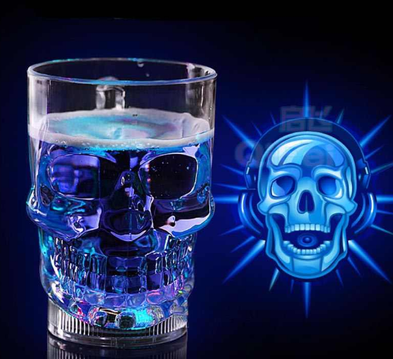 Head Cup Automatic Glow Illumination Cup Creative Led Party Bar Pub Kitchen Wine Food Grade Plastic Cup