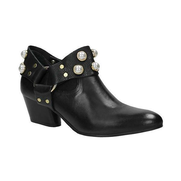 Lemmikshoes Pearl Pointed Toe Ankle Boties Slip-On Women Boots