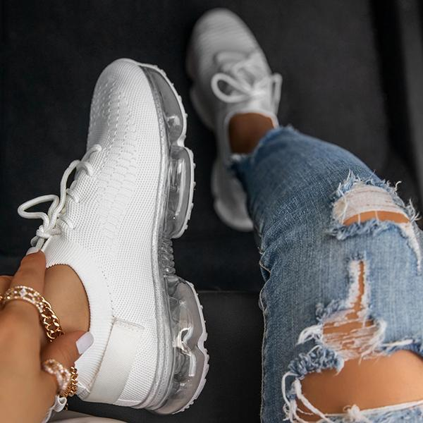 Lorinstyle Woven Air Cushion Casual Sneakers