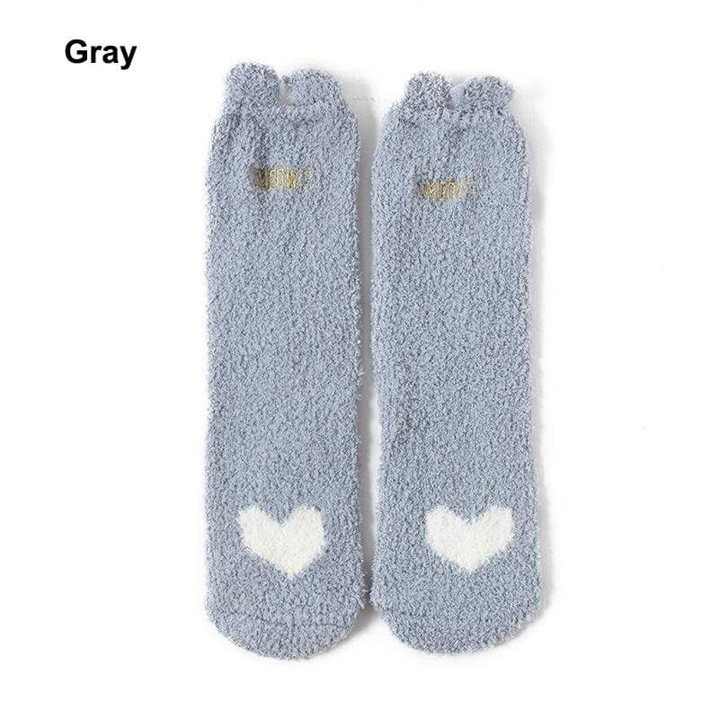 Japanese Style Women Socks,  Cute Cat Print Coral Velvet Socks For Winter.Floor socks For homewear and  Household socks