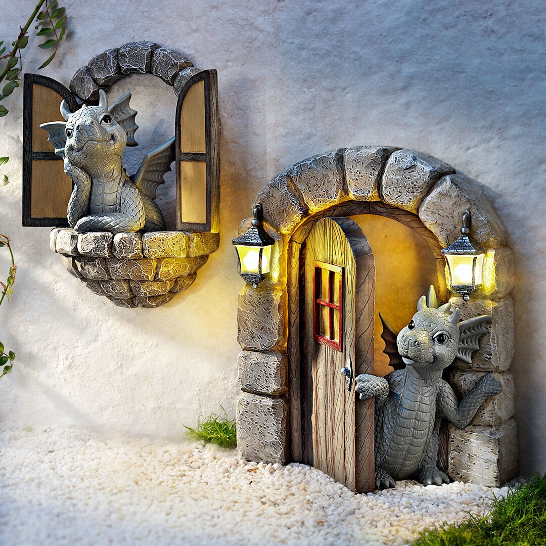 Lovely courtyard dragon sculpture(Large)