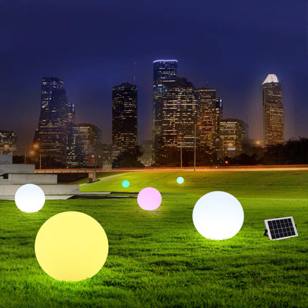 Multicolor Ball Lights For Lawn Pool