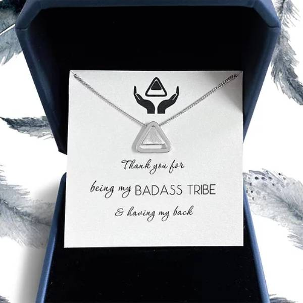 Thank you for Being my Badass Tribe Necklace