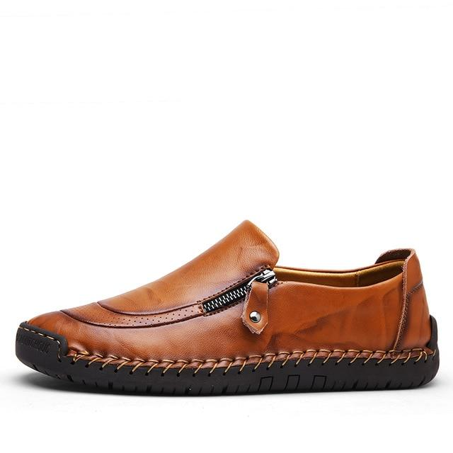 Mens casual loafers slip on dress loafers comfy driver shoes all season flats