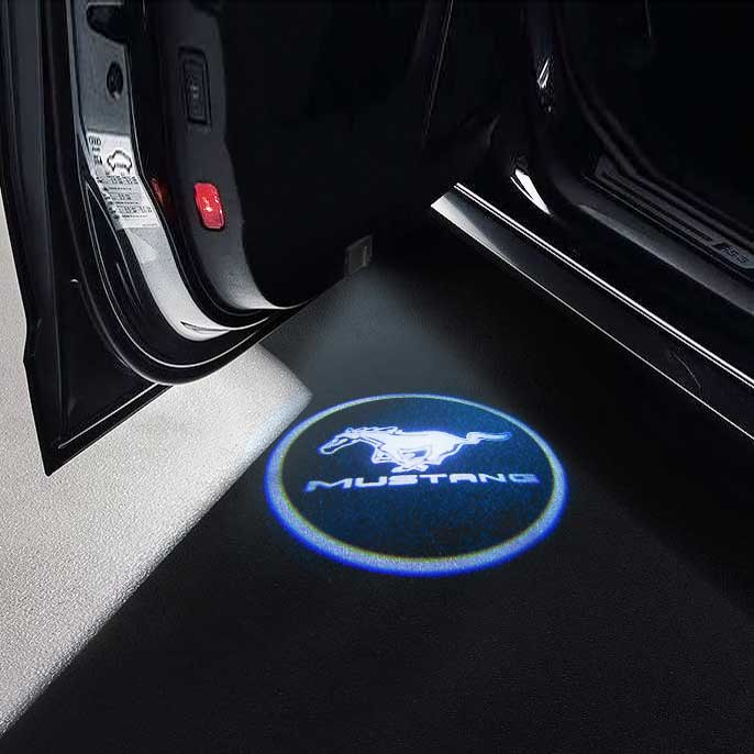 CarFitg Wireless Led Car Door Projector Puddle Logo Light - MUSTANG