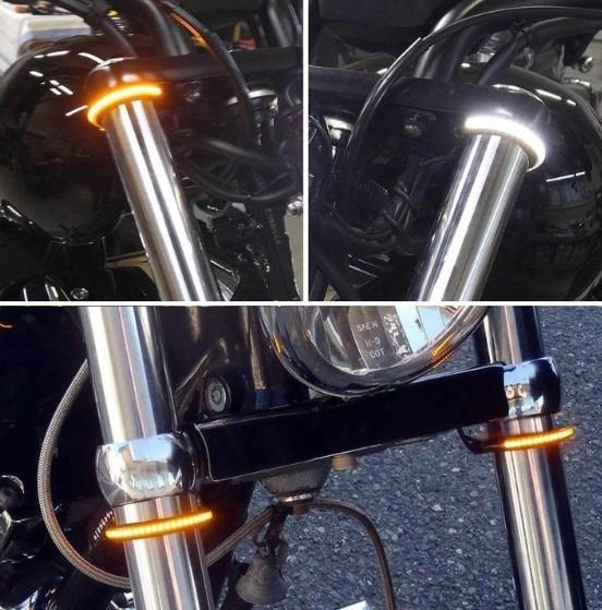 Car Fitg Fork Mount LED Turn Signals ,Double color transformation
