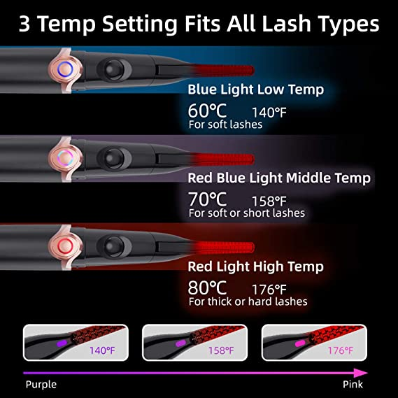2 In 1 Heated Eyelash Curler Clip & Comb (Christmas Sell)