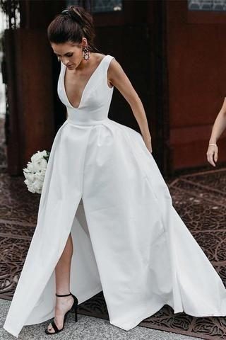 Wedding Dress Long Plus Size Wedding Dresses Wedding Dress For Older Bride Informal Sunflower Flower Girl Dress Wedding Dresses Online
