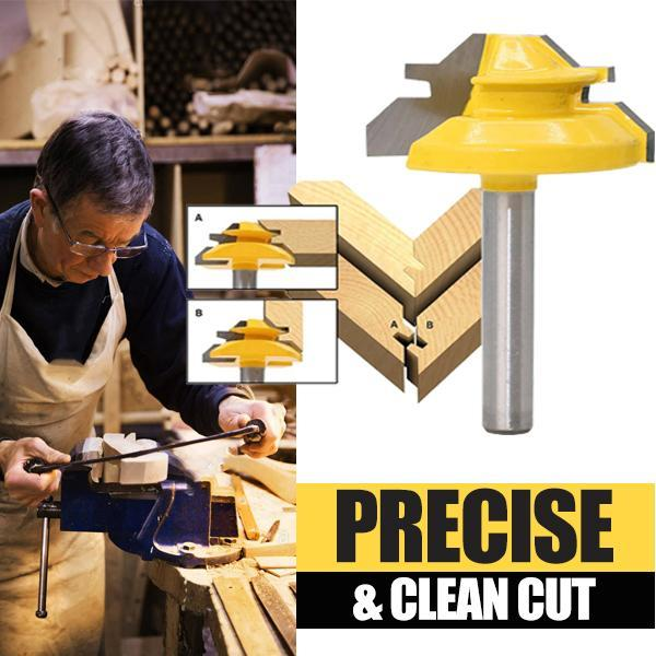 【Limited Quantity 50% OFF】🥳45-degree Lock Miter Router Bit