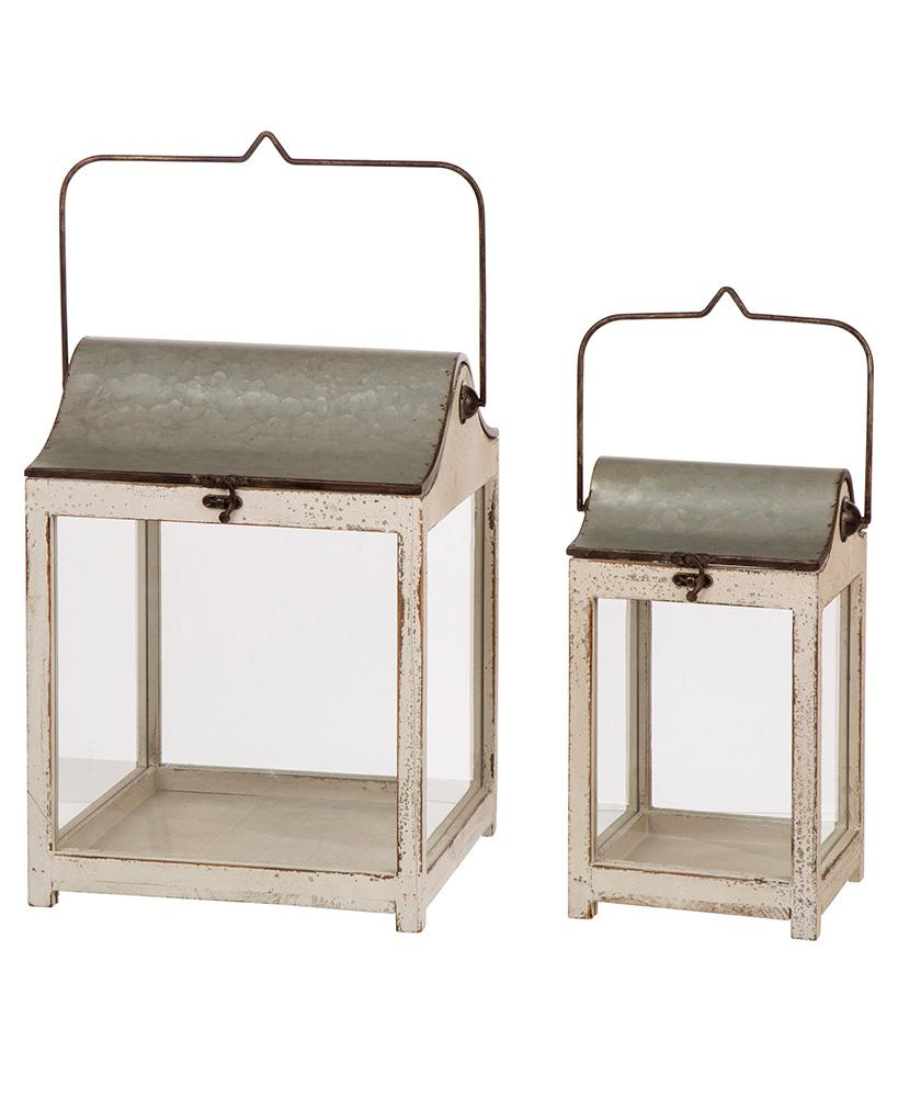Set of 2 Farmhouse Lanterns