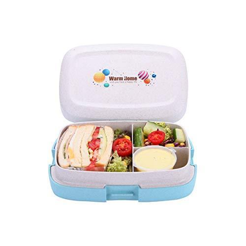 G.a HOMEFAVOR Plastic Lunch Food Container with Tableware Set Design, 1000ML Lea