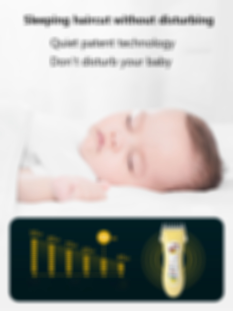 Professional Waterproof Baby Hair Clipper USB Rechargeable Quiet